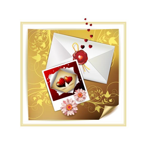 バレンタインデーの招待状 valentine day clip art letter4