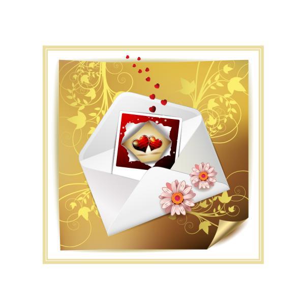 バレンタインデーの招待状 valentine day clip art letter5