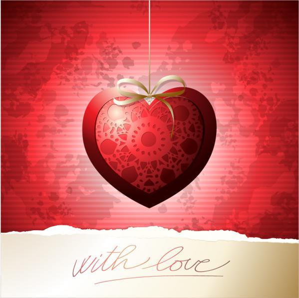 美しいバレンタインデー カード テンプレート beautiful Valentines Day greeting cards
