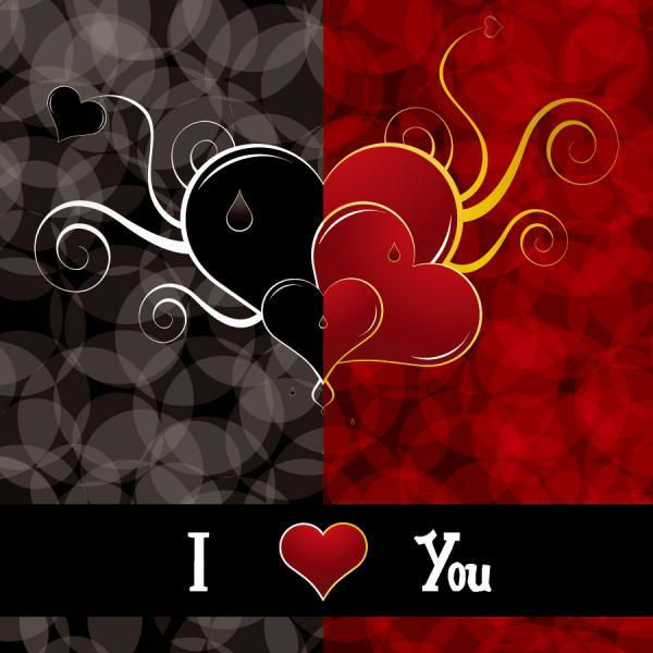 ハートを矢で射るバレンタインデー カード Heart romantic valentine day greeting card(4)