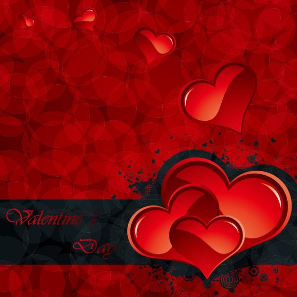 ハートを矢で射るバレンタインデー カード Heart romantic valentine day greeting card(5)