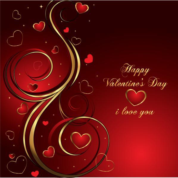 ハッピー バレンタインデーの背景 Heart Valentine's Day Background