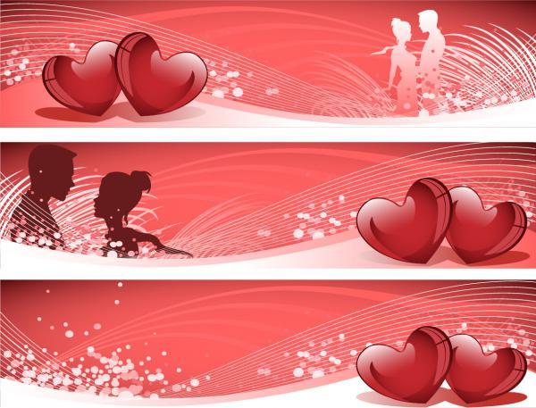 バレンタインデー バナー Valentines Day Banner