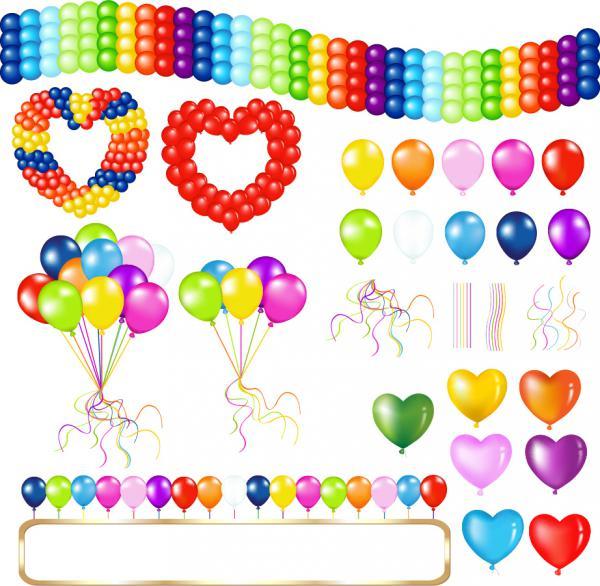 美しくカラフルなお祝いの風船 beautiful colorful celebrations balloon