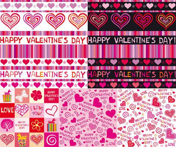バレンタインデー 可愛いハートの背景 Valentines Day cute heart backgrounds