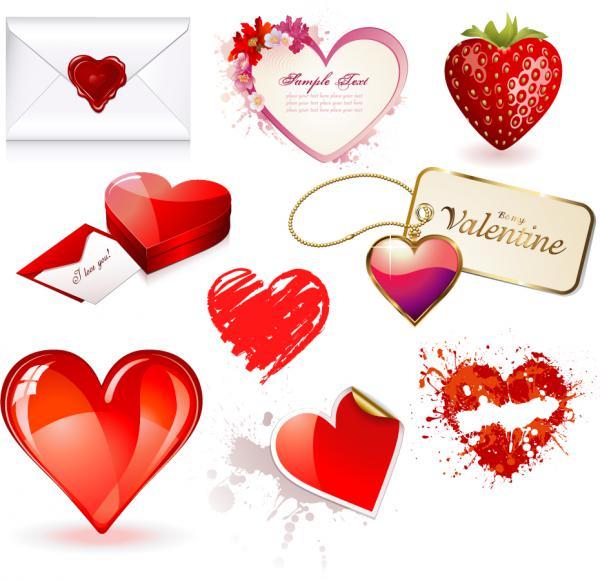 バレンタインデー ハート型素材 Valentines Day heart-shaped material 2