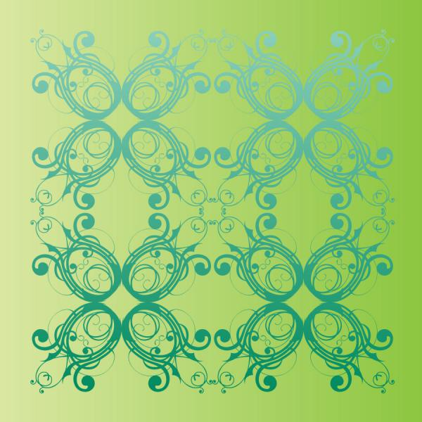 植物柄の春の背景 Decorative floral pattern in spring vector art,