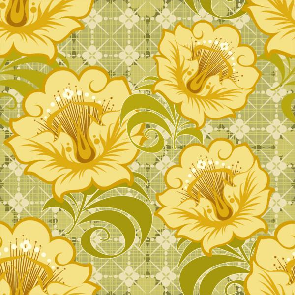 美しい花弁のシームレスな背景 Floral Seamless Background Vector