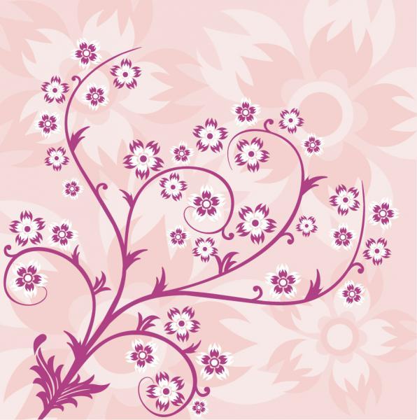 抽象的なピンクの花柄背景 Abstract Floral Pink Background