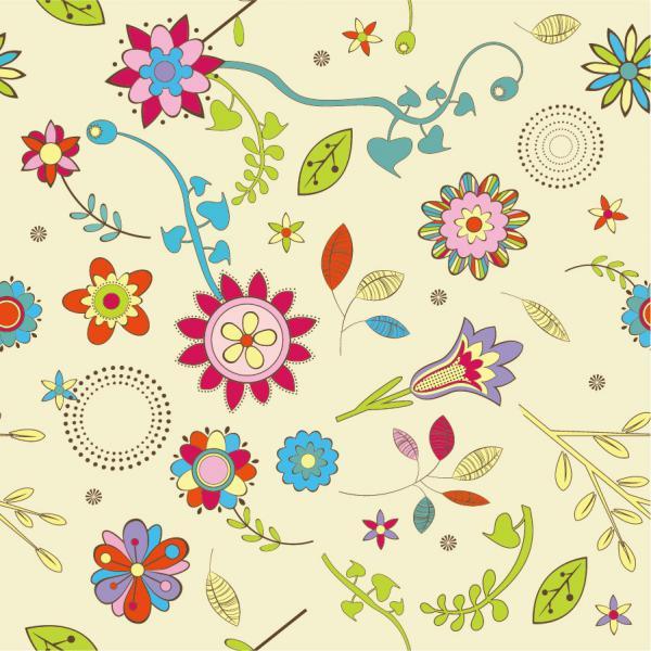 可愛い花の壁紙パターン Cute Flowers Wallpaper Pattern