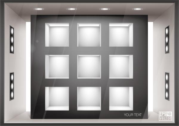 空白の店先ギャラリー テンプレート Empty storefronts gallery template