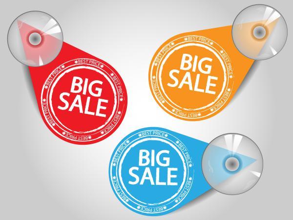 カラフルなディスカウント セール タグ special sales discount graphic design vector