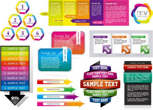 カラフルなウェブ デザイン素材 colorful decorative graphics vector