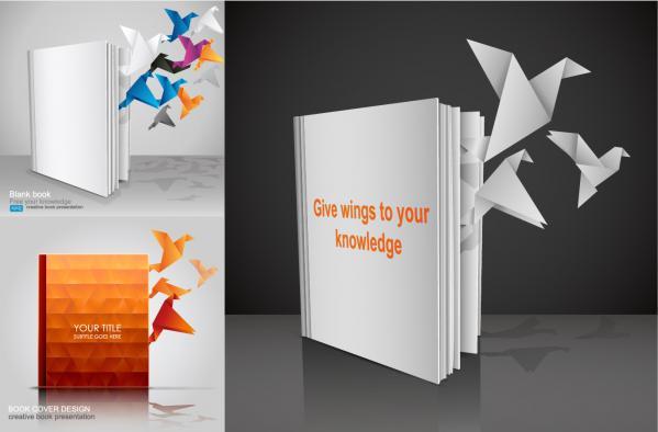 本から羽ばたく折り鶴 books out of paper cranes fly