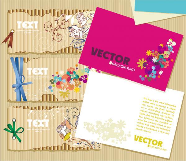 お洒落なカード テンプレート beautiful card vector