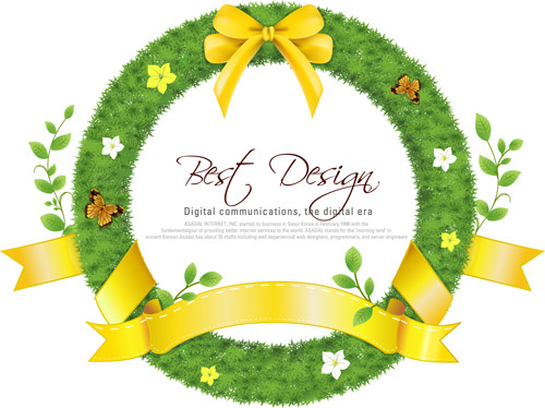 Realistic-Circle-Grass-Frame-with-Yellow-Ribbon-and-leaves_Design-Element.jpg
