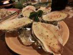 チーズ入りの牡蠣焼き