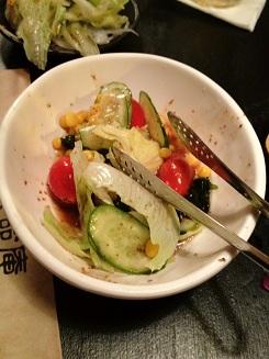 サラダ(食いかけ)