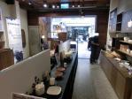 陶器製品を販売しているショップコーナー