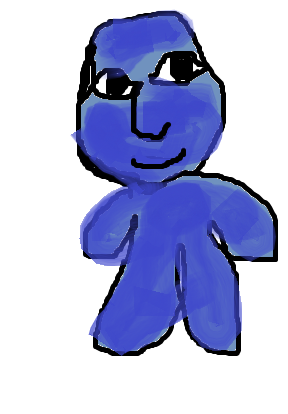 ペイントを使って、青鬼を5分で描いてみた。