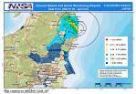 発電所周辺の汚染分布図 (3月22日 - 4月3日)出典:NISA