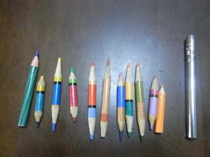 短い色鉛筆たち