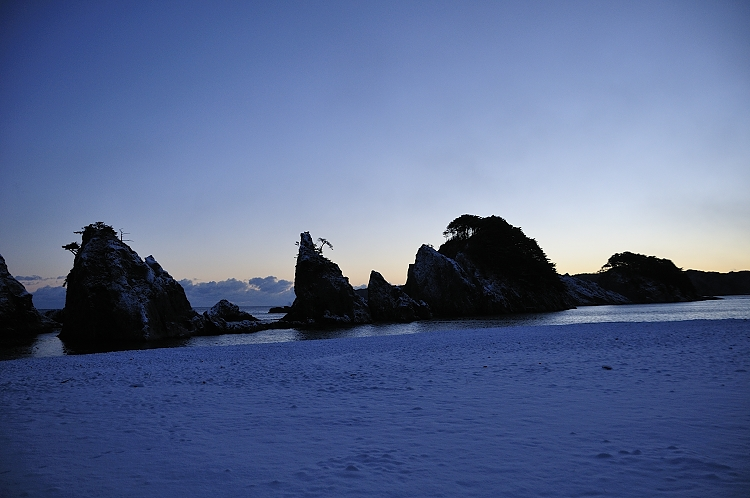 雪の浄土ヶ浜 2010 12 26