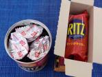 保存缶と普通のリッツ