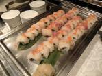 桜鯛の昆布〆と飛び子のロール寿司