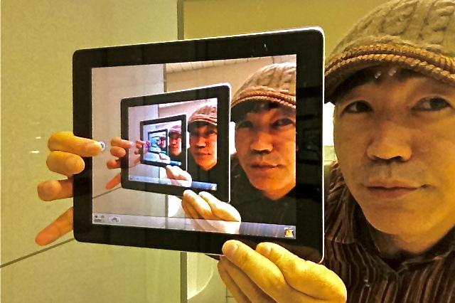 iPad2合わせ鏡