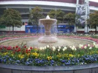 スタジアム噴水