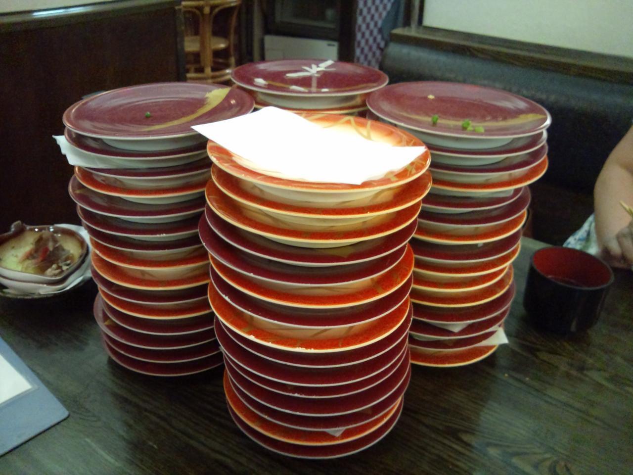 江戸前回転寿司えびす甲府昭和店(食べ放題の皿)