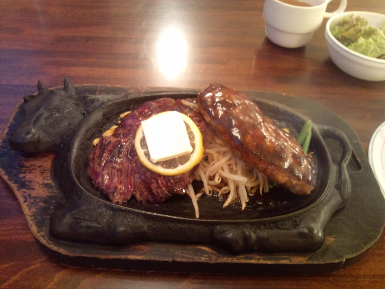 ステーキのくいしんぼ中目黒店(ハラミハンバーグ)