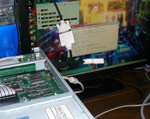 PCIEX1-PCIテストの様子
