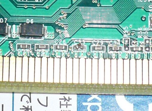 PCIEX1-PCIのコンデンサ