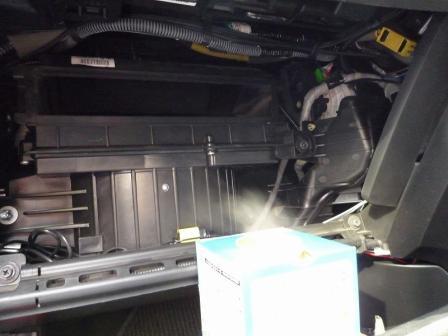 ストリーム エアコン スチーム消臭 施工中