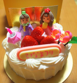 お雛さまケーキ