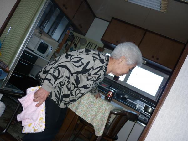 母とバスタオル