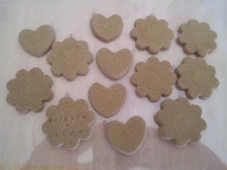 クッキー 茶、黄土、コルク