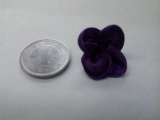 ルボンフラワー 紫 2.5センチ幅