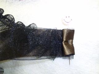リボン シュシュ ゴムで縫う 1-4