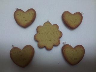 クッキー 茶、黄土、コルク 名前入り 1-3