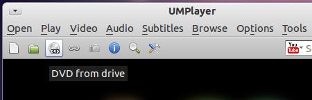 UMPlayer Ubuntu 動画プレイヤー DVD再生