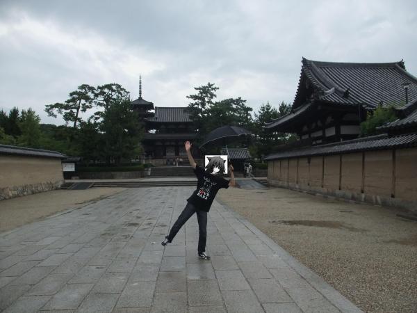 法隆寺……人間の建築物にしては趣があるじゃない。