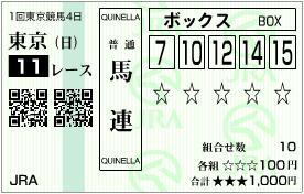 2012 東京新聞杯 馬連