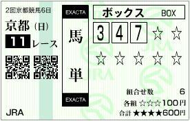 2012 京都記念 馬単