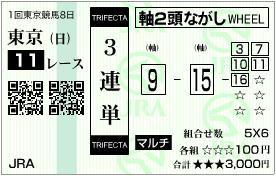 2012 フェブラリーS 3連単