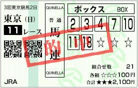 2012 安田記念 馬連