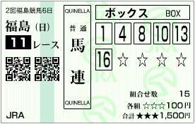 2012 ラジオNIKKEI賞 馬連