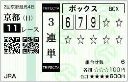 2013 きさらぎ賞 3連単